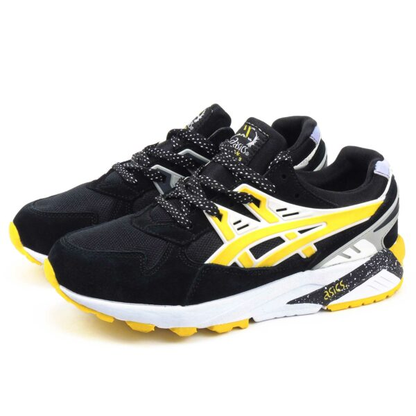 интернет магазин asics gel kayano trainer black yellow H43HK-9005