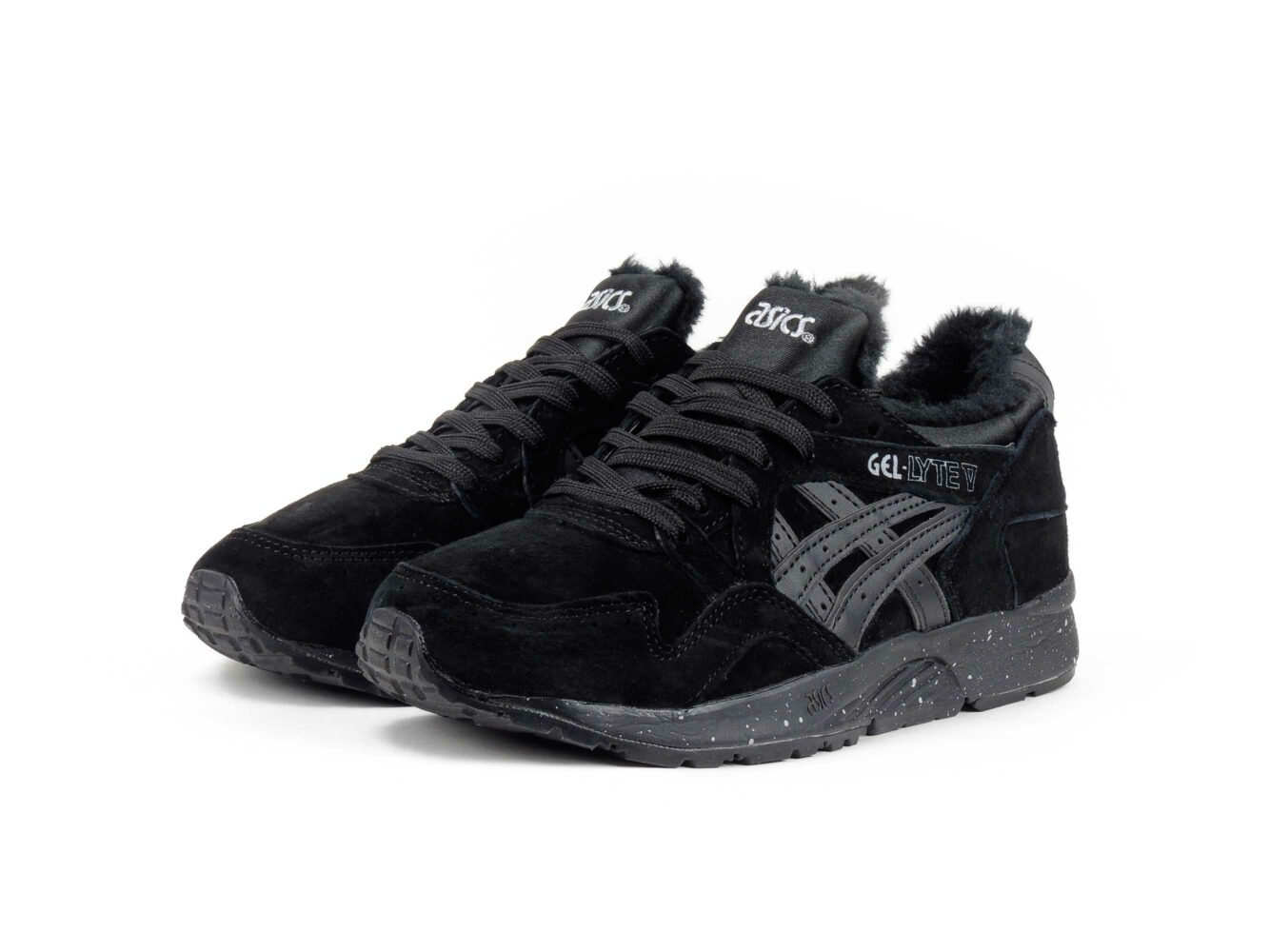 asics gel-lyte V all black winter H5R2N_9090 купить